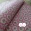 ผ้าคอตตอนลินินญี่ปุ่น 100% 1/4 ม.(50x55ซม.) พื้นสีชมพู ลายดอกไม้ thumbnail 2