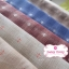 ผ้าทอญี่ปุ่น 1/4ม.(50x55ซม. โทนสีน้ำเงิน ทอลายตารางแต่งดอกไม้ thumbnail 2
