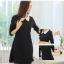 เดรสดำแฟชั่นชุดสุภาพที่ควรค่าแก่การมีไว้ใส่ แขนยาว คอบัว ดูเรียบร้อยจริงๆ thumbnail 3