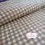 ผ้าคอตตอนลินิน 1/4ม.(50x55ซม.) พื้นสีครีม ลายตารางสีน้ำตาล thumbnail 1