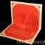 A14 การ์ดป๊อปอัพไดคัทหัวใจแดงครีมมุก thumbnail 1