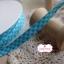 ริบบิ้นผ้าแถบ ลายตารางสีฟ้า กว้าง 1 ซ.ม. แบ่งขายเป็นหลา thumbnail 3