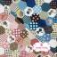 ผ้าคอตตอนไทย 100% 1/4 ม.(50x55ซม.) ลายต่อผ้าหกเหลี่ยม โทนสีชมพู น้ำตาล thumbnail 3