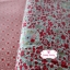 ผ้าคอตตอนไทย 100% 1/4ม.(50x55ซม.) Blooming Flower โทนสีแดง thumbnail 3