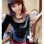 เสื้อแฟชั่นเกาหลีใหม่ ผ้ากำมะหยี่สีมันวาว ตกแต่งคอเสื้อด้วยเพชรสีสันสวยงาม thumbnail 5