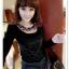 เสื้อแฟชั่นเกาหลีใหม่ ผ้ากำมะหยี่สีมันวาว ตกแต่งคอเสื้อด้วยเพชรสีสันสวยงาม thumbnail 2