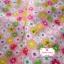 ผ้าคอตตอนไทย 100% 1/4 ม.(50x55ซม.) พื้นสีชมพูโอรส ลายดอกไม้ thumbnail 2