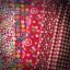 Set 5 ชิ้น : ผ้าคอตตอน 100% โทนสีแดง 4 ลาย และผ้าแคนวาสสีแดงลายตาราง แต่ละชิ้นขนาด 1/8 ม.(50x27.5ซม.) thumbnail 1