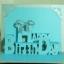 A54 การ์ดป๊อปอัพไดคัท Happy Birthday 2 ปกสีเงิน thumbnail 2
