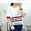 เสื้อยืดแฟชั่นแขน 3 ส่วน เพิ่มสีสันด้วยคาดสีตัดลายขวาง และเล่นริ้วให้พริ้วไหว thumbnail 13