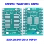 SOIC20 SOP20 SSOP20 TSSOP20 to DIP20 PCB SMD DIP/Adapter plate Pitch 0.65/1.27mm thumbnail 1