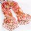 ผ้าพันคอผ้าPolyester+ผ้าไหม แฟนตาซีเสือดาวสีแดง ( รหัส P83 ) thumbnail 1
