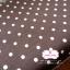 ผ้าคอตตอนลินิน 1/4ม.(50x55ซม.) สีน้ำตาลเข้ม ลายจุดสีขาว thumbnail 1