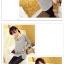 เสื้อแฟชั่นเกาหลีแขนยาวสไตล์ย้อนยุค ตกแต่งคอเสื้อและชายเสื้อด้วยด้ายสีทอง thumbnail 3