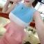 เดรสแฟชั่นเกาหลี แขนกุดเข้ารูปสวยๆ เด่นๆ ด้วยสีสันที่ตัดกันอย่างลงตัว thumbnail 8