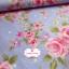 ผ้าคอตตอนไทย 100% 1/4 ม.(50x55ซม.) พื้นสีฟ้า ลายดอกไม้สีชมพู thumbnail 2