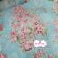 ผ้าคอตตอนไทย 100% 1/4 ม.(50x55ซม.) พื้นสีฟ้า ลายพุ่มดอกไม้สีชมพู thumbnail 1