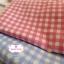 ผ้าคอตตอนไทย 100% 1/4ม.(50x55ซม.) ลายตาราง โทนสีชมพู thumbnail 2