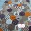ผ้าคอตตอนไทย 100% 1/4 ม.(50x55ซม.) ลายตอ่ผ้าหกเหลี่ยม โทนสีน้ำตาล thumbnail 1
