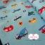 ผ้าคอตตอนญี่ปุ่น 100% 1/4ม.(50x55ซม.) พื้นสีฟ้า ลายรถ thumbnail 1