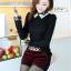 เสื้อแฟชั่นเกาหลี แขนยาว ตัดเย็บด้วยลูกไม้ลายสวย ประณีต มีระดับ ไฮโซสุดๆ thumbnail 10