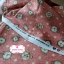 ผ้าคอตตอนเกาหลีแท้ 100% 1/4 เมตร (50x55 cm.) พื้นสีชมพูโอรส ลายนาฬิกาคลาสสิค thumbnail 2