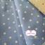 ผ้าคอตตอนลินิน 100% 1/4 ม.(50x55ซม.) พื้นสีฟ้าคราม ลายจุดสีขาว thumbnail 1