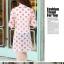 เสื้อคลุมผ้าชีฟองเนื้อนิ่ม เบาสบาย สกรีนลายจุดขนาดกำลังดี เอาไว้ปกป้องผิวสาวขาวๆ จาก UV thumbnail 14