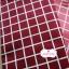 ผ้าคอตตอนลินิน 1/4ม.(50x55ซม.) พื้นสีแดง ลายตารางสีขาว thumbnail 2