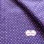ผ้าคอตตอน 100% 1/4 ม.(50x55ซม.) พื้นสีม่วง ลายจุดสีขาว thumbnail 3