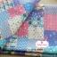ผ้าคอตตอนเกาหลีแท้ 100% 1/4 เมตร (50x55 cm.) ลายแพทเวิค โทนสีฟ้า thumbnail 1