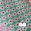 ผ้าคอตตอนไทย 100% 1/4 ม.(50x55ซม.) พื้นสีเขียวอ่อน ลายดอกไม้สีขาว thumbnail 1