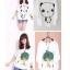 เสื้อยืดแฟชั่นคอกลม แขนค้างคาว สกรีนลายน่ารักๆ ใส่สบายๆ ตามสไตล์วัยรุ่น SET3 thumbnail 3