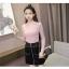 เสื้อยืดแขนยาวแฟชั่น สีสวยๆ สะท้อนแสงส่องประกายเล็กๆ ผ้านิ่ม ใส่สบายผิว thumbnail 33