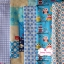 Set 5 ชิ้น : ผ้าคอตตอนไทย 5 ลาย โทนสีฟ้าแต่ละชิ้นขนาด1/8 ม.(50x27.5ซม.) thumbnail 1