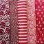 Set 5 ชิ้น : ผ้าคอตตอน 100% โทนสีแดง 5 ลาย ชิ้นละ1/8 ม.(50x27.5ซม.) thumbnail 2