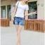 กางเกงยีนส์ขาสั้น แฟชั่นสวยๆ แต่งขอบเอวไม่เหมือนใคร เหมือนใส่เข็มขัดเก๋ๆ ในตัว thumbnail 5