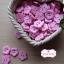 กระดุมลายดอกไม้สีชมพูอ่อน ขนาด 1.5 ซม. จำนวน 12 เม็ด(1โหล) thumbnail 2