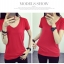 เสื้อยืดคอวีสีสันสวยๆ ใส่ได้ทุกยุค ทุกสมัยแฟชั่น มีให้เลือกสีกันอย่างจุใจ thumbnail 16