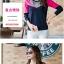 เสื้อยืดแขนยาวแฟชั่น สีสันจี๊ดๆ ตัดกันอย่างโดดเด่น ผ้านิ่ม น่าใส่มากๆ thumbnail 3