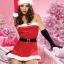xm009 ชุดแซนตี้ ชุดซานต้าสาว แซกเกาะอก พร้อมหมวกและเข็มขัดคะ thumbnail 1