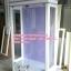 ตู้โชว์กระจกใสวินเทจสีขาวสำหรับร้านค้า thumbnail 2
