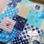 ผ้าคอตตอนลินิน 100% 1/4 เมตร โทนสีฟ้า ลายสมอเรือ thumbnail 1