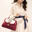 Pre Order กระเป๋าแฟชั่นทรงสวยเก๋ๆ ในแบบสาวเกาหลี ตกแต่งอย่างประณีตทุกจุด มีให้เลือกถึง 4 สี thumbnail 4