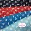 ผ้าคอตตอนไทย 100% 1/4 ม.(50x55ซม.) พื้นสีฟ้า ลายสมอเรือ thumbnail 2