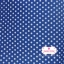 ผ้าคอตตอนไทย 100% 1/4 ม.(50x55ซม.) พื้นสีน้ำเงิน ลายจุดสีขาว thumbnail 5