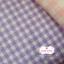 ผ้าคอตตอนลินิน 1/4ม.(50x55ซม.) สีม่วง ลายตาราง thumbnail 1