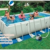 ( ขนาด 18 ฟุต )สระน้ำขนาดใหญ่ Intex Ultra Frame Rectangular Pool Water 18 ฟุต.