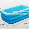 ( ขนาด 5 ฟุต ) สระน้ำเป่าลม ขนาดกลางสีฟ้า ขอบขาว ไม่มีลาย 160*110*50 เซนติเมตร FW-911