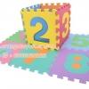 EVA แผ่นโฟมปูพื้น แผ่นรองคลาน ลายตัวเลข 0-9 (แพ๊ก 10 แผ่น) แบบตัวเลขล้วน